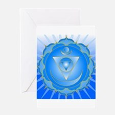 Mandala for Thraot and Brow Chakra Greeting Cards
