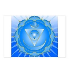 Mandala for Thraot and Brow Chakra Postcards (Pack