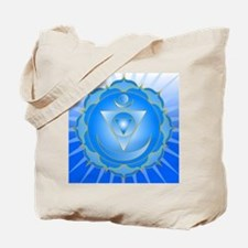 Mandala for Thraot and Brow Chakra Tote Bag