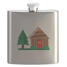 Home Sweet Cabin Flask