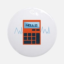 Hello Calculator Ornament (Round)