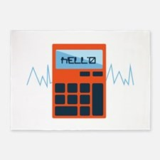 Hello Calculator 5'x7'Area Rug