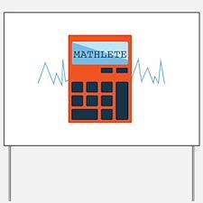 Mathlete Calculator Yard Sign