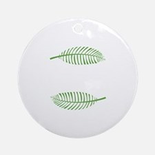 Palm Leaves Ornament (Round)