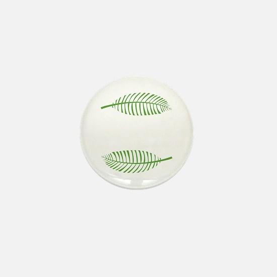 Palm Leaves Mini Button