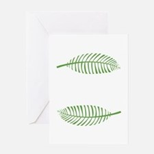 Palm Leaves Greeting Cards
