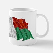 Madagascar Flag (Distressed) Mugs