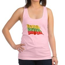 Lithuania Flag (Distressed) Racerback Tank Top