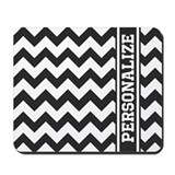 Black and white personalized Classic Mousepad