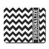 Black and white personalized Mouse Pads