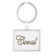 Gold Coral Keychains