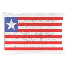 Liberia Flag (Distressed) Pillow Case