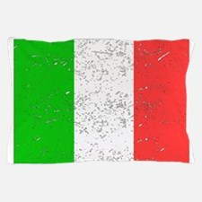 Italy Flag (Distressed) Pillow Case