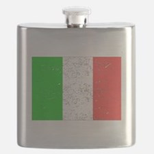 Italy Flag (Distressed) Flask