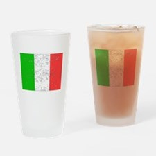 Italy Flag (Distressed) Drinking Glass