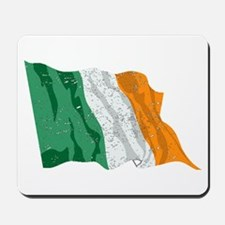 Ireland Flag (Distressed) Mousepad