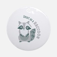 Smart Raccoon Ornament (Round)