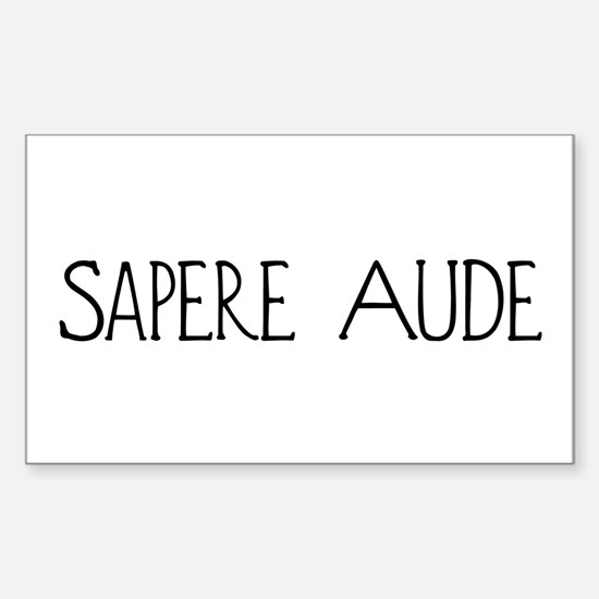 Sapere Aude Rectangle Decal