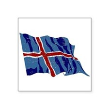 Iceland Flag (Distressed) Sticker