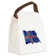 Iceland Flag (Distressed) Canvas Lunch Bag