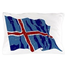 Iceland Flag (Distressed) Pillow Case