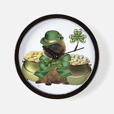 St. Patrick's Cairn Terrier Wall Clock