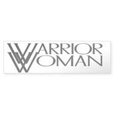 Warrior Woman Bumper Car Sticker