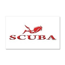 SCUBA Dive Car Magnet 20 x 12