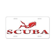 SCUBA Dive Aluminum License Plate