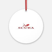 SCUBA Dive Ornament (Round)