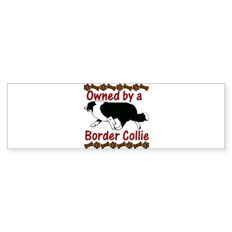Owned by a Border Collie Bumper Sticker