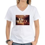 FOXHOUNDS & TERRIER Women's V-Neck T-Shirt
