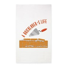 Bricklayers Life Area Rug