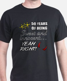 Cute 50th Birthday Humor T-Shirt