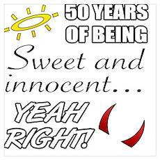Cute 50th Birthday Humor Poster