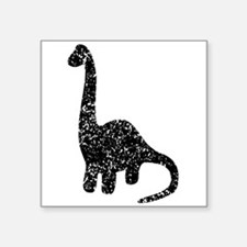 Distressed Brontosaurus Silhouette Sticker