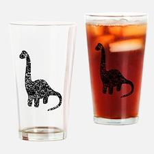 Distressed Brontosaurus Silhouette Drinking Glass