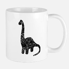 Distressed Brontosaurus Silhouette Mugs