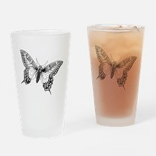 Butterfly Vintage Drinking Glass