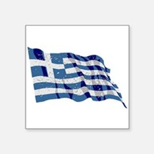 Greece Flag (Distressed) Sticker