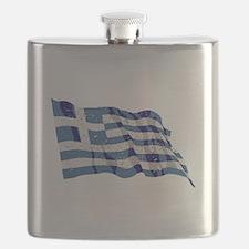 Greece Flag (Distressed) Flask