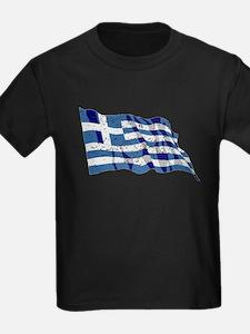 Greece Flag (Distressed) T-Shirt