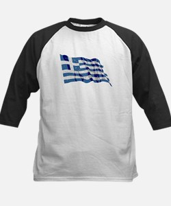 Greece Flag (Distressed) Baseball Jersey