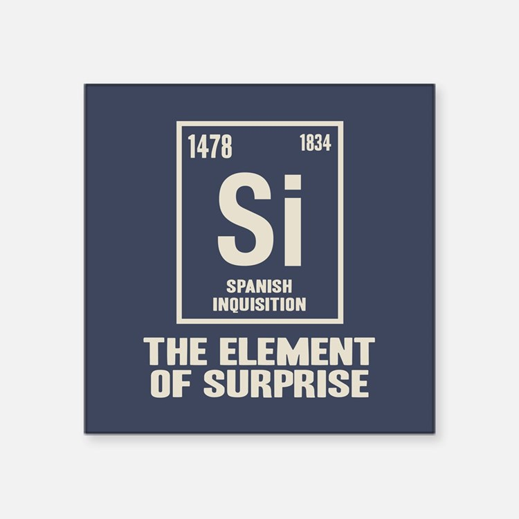 "The Spanish Element Square Sticker 3"" x 3"""