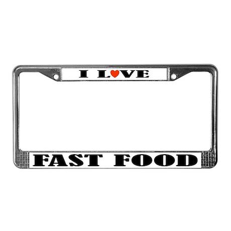 Fast Food License Plate Frame