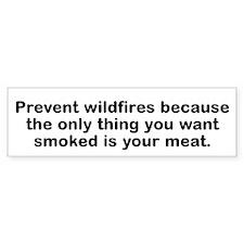 Prevent Wildfires Because The Bumper Bumper Sticker
