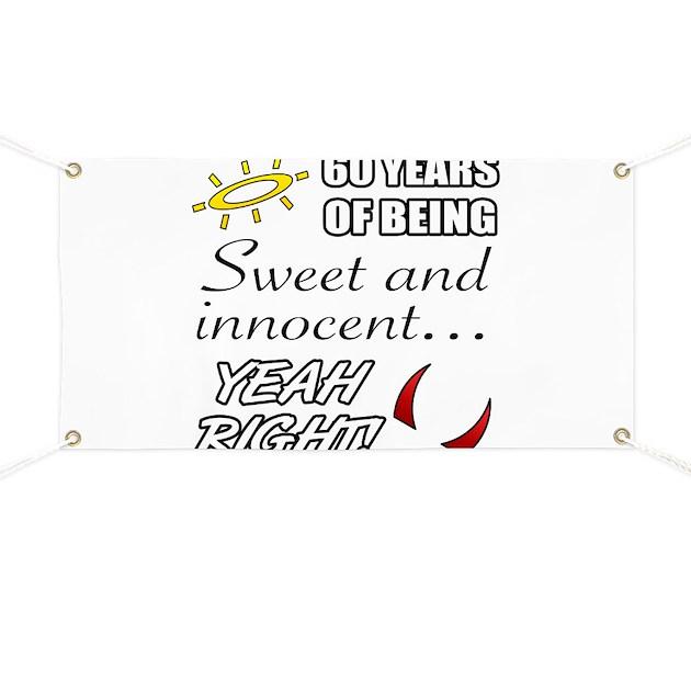 Cute 60th Birthday Humor Banner by Admin_CP1519247