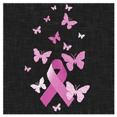 Pink Awareness Ribbon Canvas Art