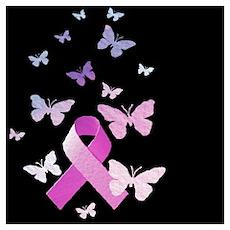 Pink Awareness Ribbon Poster