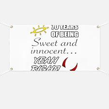 Cute 70th Birthday Humor Banner